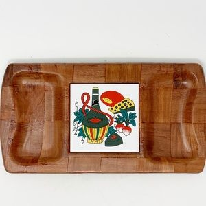 Vintage Formosa woven wood made in tawain tray